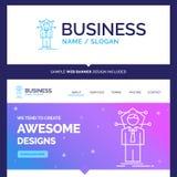 Schönes Geschäfts-Konzept-Markenname-Geschäft, Verbindung, huma vektor abbildung
