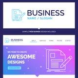 Schönes Geschäfts-Konzept-Markennamedokument, Datei, Seite, Stift lizenzfreie abbildung