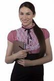 Schönes Geschäftsfraulächeln Lizenzfreies Stockfoto