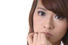 Schönes Gesicht der asiatischen Dame Stockfoto