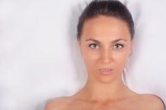 Schönes Gesicht der Frau Lizenzfreie Stockbilder