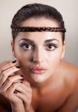 Schönes Gesicht der jungen Frau Lizenzfreie Stockfotografie