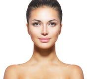 Schönes Gesicht der jungen Frau Lizenzfreie Stockbilder
