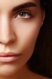 Schönes Gesicht der jungen Frau Skincare, Wellness, Badekurort Säubern Sie weiche Haut, gesunden neuen Blick Natürliches tägliche Lizenzfreies Stockfoto