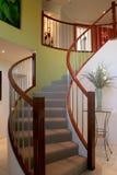 Schönes gewundenes Treppenhaus Stockfotografie