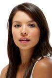 Schönes glückliches junges weibliches Portrait Stockfotos