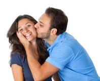 Schönes glückliches Paar Lizenzfreie Stockfotografie