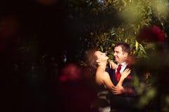 Schönes glückliches Paar in der Natur Lizenzfreie Stockbilder