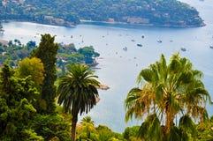 Perfekte Ansicht über französisches Riviera Stockfotografie