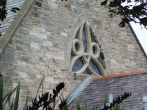 Schönes gotisches Kirchen-Fenster auf Lindisfarne die heilige Insel Lizenzfreie Stockfotos