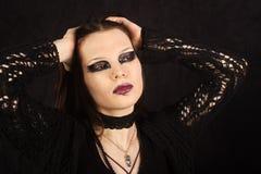 Schönes gotisches Mädchen Lizenzfreies Stockfoto