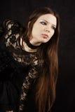 Schönes gotisches Mädchen Stockfoto