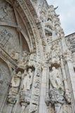 Schönes gotisches Portal der Kirche von Santa Maria in Belem Stockbild