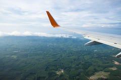 Schönes grünes Feld und Bergblick Stockbilder