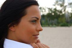 Schönes green-eyed Mädchen Lizenzfreies Stockfoto