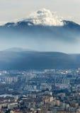 Schönes Grenoble von der Bastille, Frankreich Lizenzfreies Stockbild