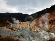 Schönes Höllental von Hokkaido in Japan stockfoto