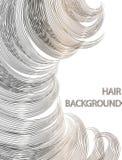 Schönes Haar der Visitenkarte kann als Fahnen für Design benutzt werden Stockbild