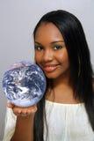 Schönes haitianisches Mädchen, Headshot (4) Lizenzfreie Stockfotos