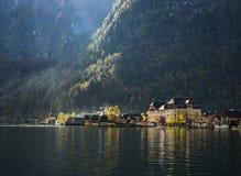 Schönes Hallstatt-Dorf von Österreich lizenzfreie stockfotografie