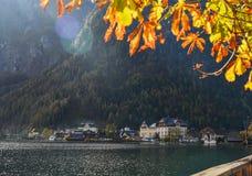 Schönes Hallstatt-Dorf von Österreich stockfoto