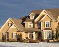Schönes Haus im Winter Stockfoto