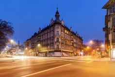 Schönes Haus im zentralen Teil von Gliwice, Polen Stockbilder