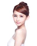 Schönes Hautpflegefrau Gesicht Lizenzfreie Stockfotos