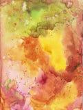Schönes helles Aquarell des Regenbogens befleckt, abstrakte Aquarellbeschaffenheit lizenzfreie stockbilder