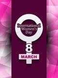 Schönes Hintergrunddesign für den Tag der Frauen Lizenzfreies Stockfoto