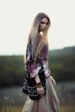Schönes Hippiemädchen Stockfoto