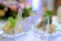 Schönes Hochzeitsrestaurant für Heirat Stockfotos