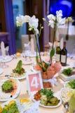 Schönes Hochzeitsrestaurant für Heirat Lizenzfreies Stockfoto