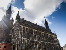 Schönes im altem Stil Gebäude in Deutschland lizenzfreie stockfotos