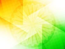 Schönes indisches Flaggenthema-Hintergrunddesign Lizenzfreie Stockbilder