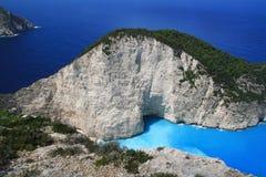 Schönes ionisches Meer, Zakynthos Griechenland Lizenzfreies Stockfoto