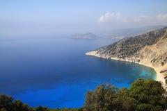 Schönes ionisches Meer, Zakynthos Griechenland Lizenzfreies Stockbild