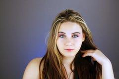 Schönes jugendlich Mädchen Headshot (2) Lizenzfreies Stockfoto