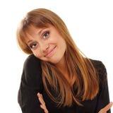 Schönes jugendlich Mädchen mit nettem Gesichtsausdruck Lizenzfreie Stockfotografie