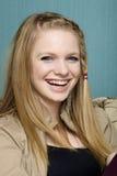 Schönes junge Frauen-Lächeln Lizenzfreie Stockfotos