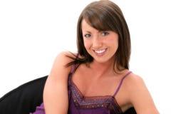 Schönes junge Frauen-Lächeln Stockbilder