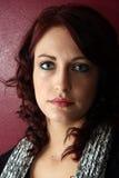 Schönes junge Frauen-Portrait Lizenzfreies Stockfoto