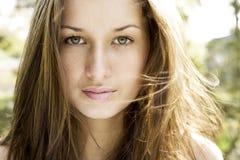 Schönes junge Frauen-Portrait Lizenzfreie Stockfotos