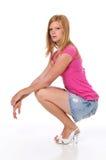 Schönes junges blondes Lizenzfreies Stockfoto