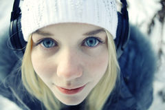 Schönes junges blondes jugendlich Stockfoto
