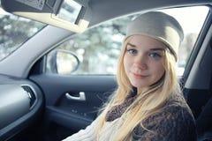 Schönes junges blondes jugendlich Stockfotografie
