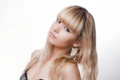 Schönes junges blondes Mädchen Stockfoto