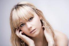 Schönes junges blondes Mädchen Stockbild