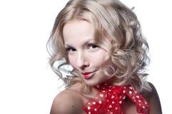 Recht nacktes blondes Lizenzfreies Stockfoto