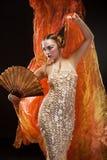 Schönes junges Geishamädchen Stockfoto